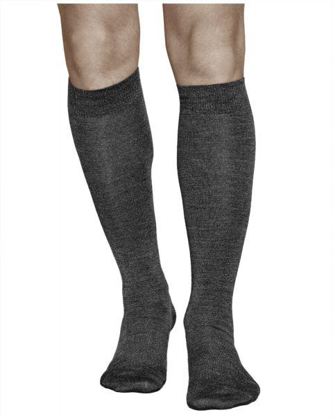 Merino Wool Warm Knee-Highs Winter Grey (Men)