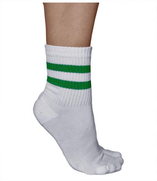Bamboo Cushioned Striped Crew Athletic Sports Socks (Women)