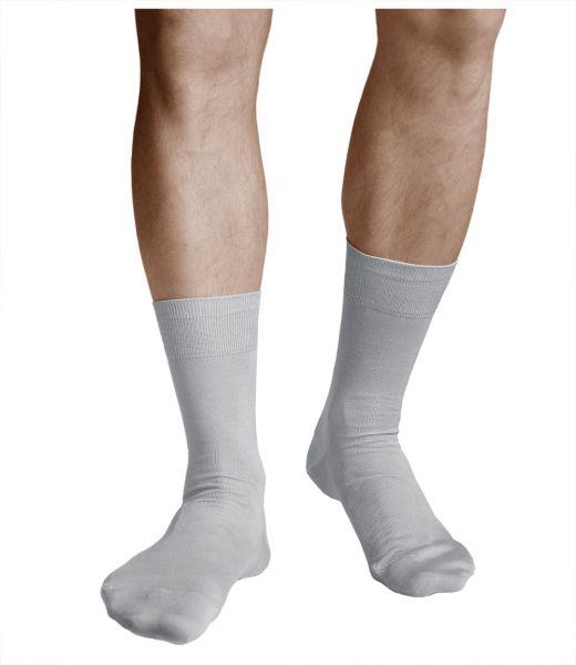 100% Cotton Lightweight Grey Thin Socks (Men)