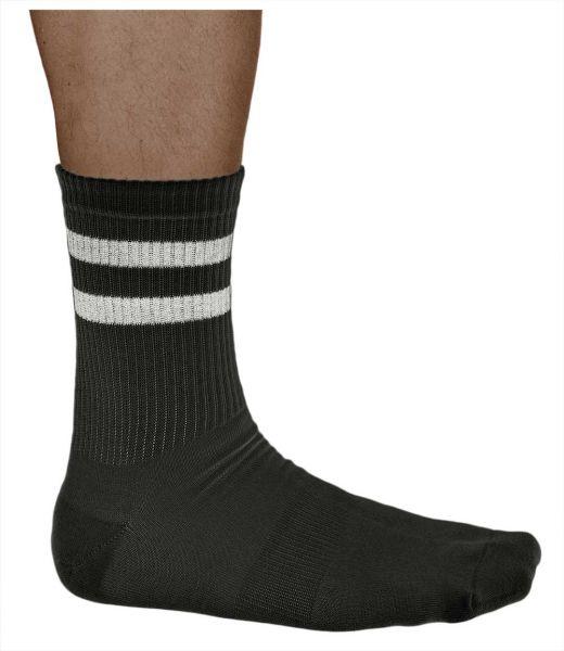 Bamboo Cushioned Striped Crew Skate Sports Socks (Men)