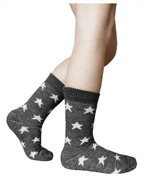 Kids merino wool cushioned slipper warm winter woollen socks