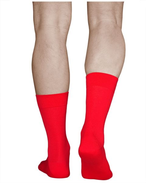 100% Cotton Lightweight Red Thin Socks (Men)