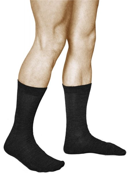 Merino Wool Business Socks Warm Black (Men)