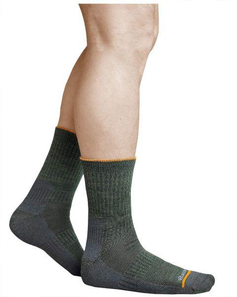 Hiking Walking Merino Wool Socks Cushioned Crew (Men)