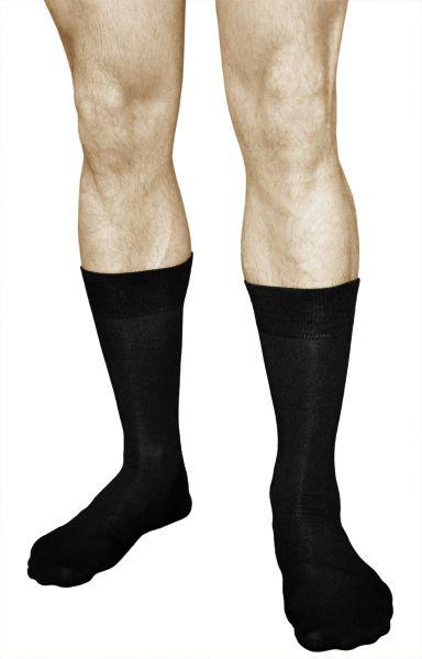 Bamboo Black Casual Business Mid-Calf Socks (Men)