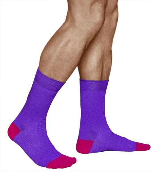 Fun Coloured Mid-Calf Cotton Socks (Men)