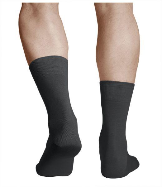 100% Cotton Lightweight Black Thin Socks (Men)