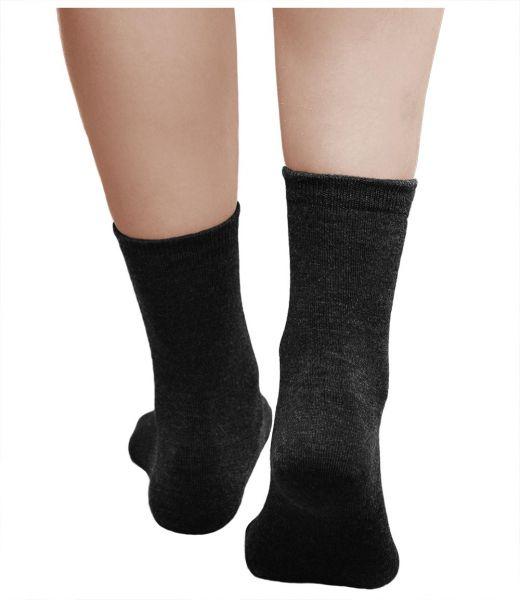 Merino Wool Socks Warm Black (Women)