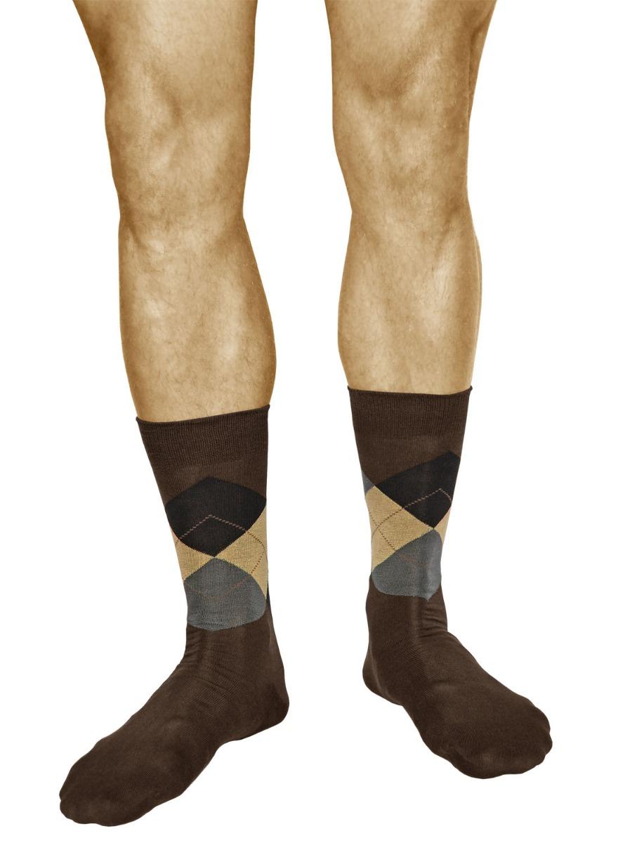 4b6363db80b6 Men's Argyle Socks in Diamond Pattern